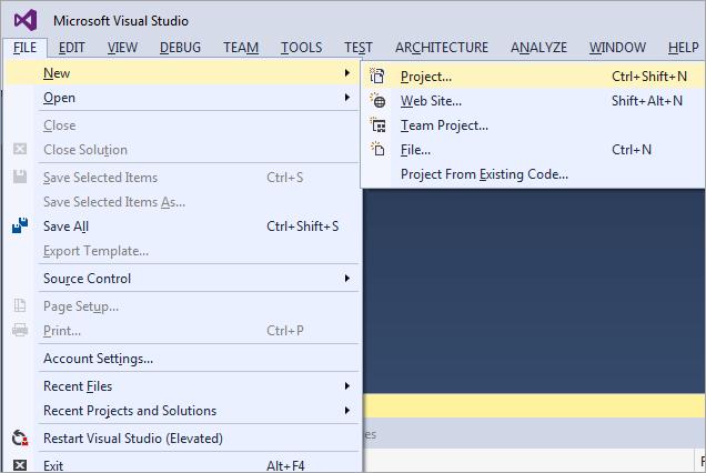 19Create a C# ASP.NET Web project