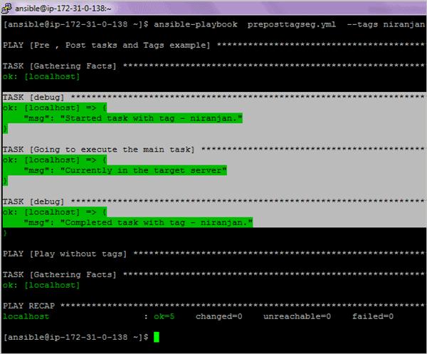 2.to execute tasks with tag niranjan