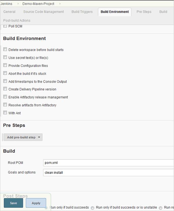5.Configure the build