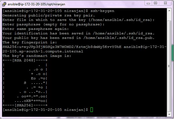 6.Control Machine-ssh-keygen