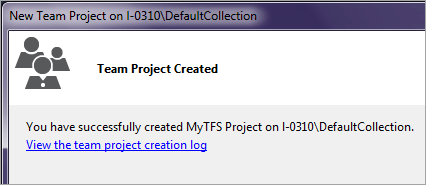 7 Setup a C# Application-new team project created.1