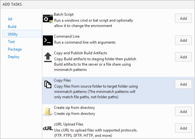 97Add a task to copy files from 'drop' folder