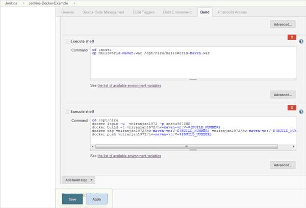 Jenkins integration with Docker