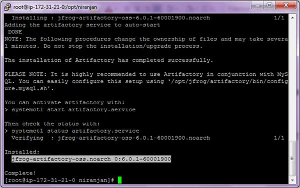Installing JFrog Artifactory OSS