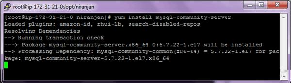 Installing MySQL 5.7