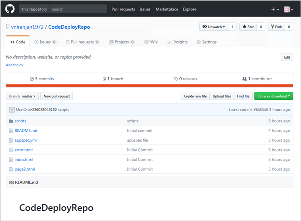 GitHub repo of all files needed to run AWS CodeDeploy