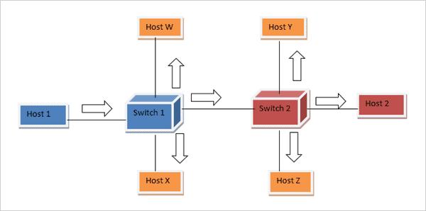 network topology not using VLAN technique.