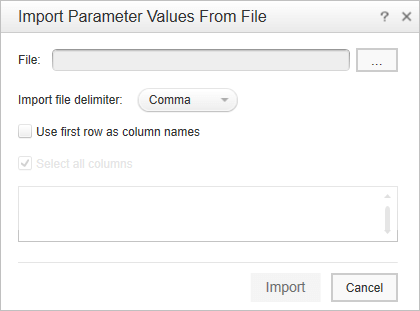 31.select the file, specify the delimiter and configure other options