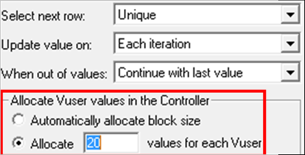 34.Allocate Vuser values in the Controller