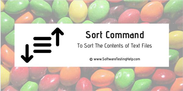 Unix sort command