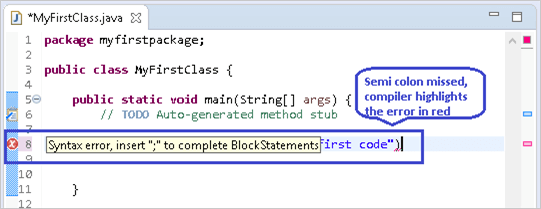 Compiler errors highlighted in the code