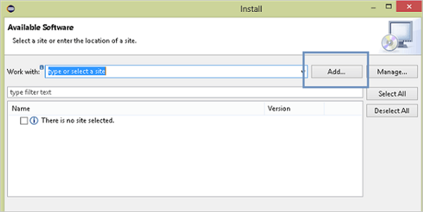 Install new Software in eclipse