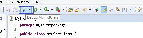 Running the code in debug