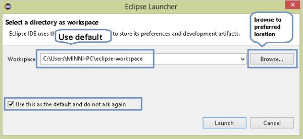 Eclipse launcher