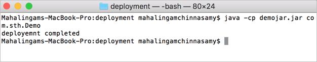 Execute Java Deployment