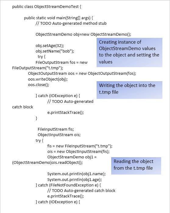 ObjectStreamDemo1