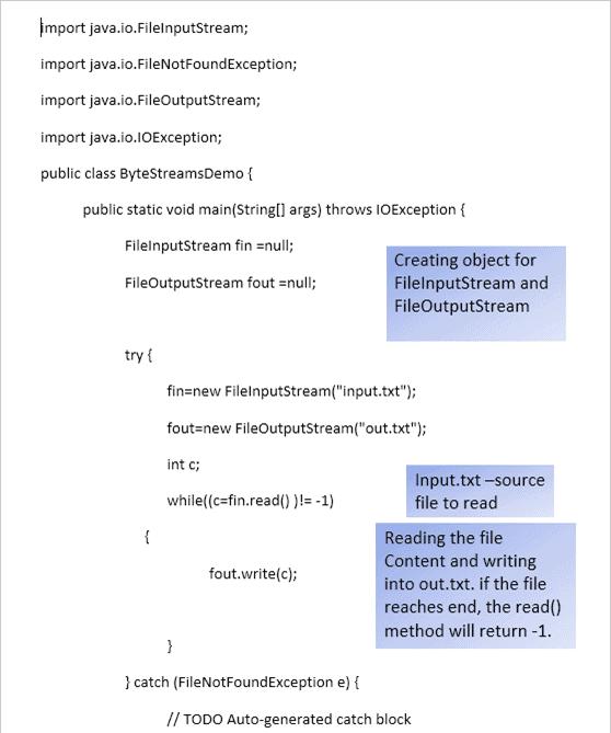 Reading file as Byte Streams1