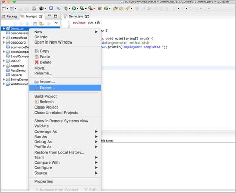 Java JAR File - Export