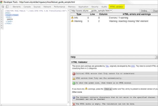 9. HTML Validator Online Tool for Chrome