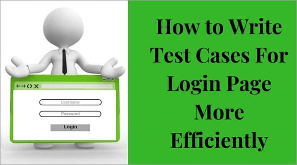 Test cases for login page
