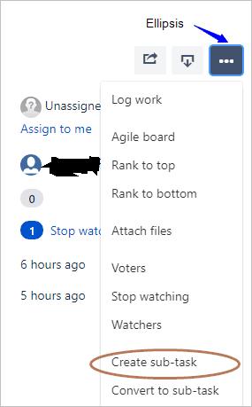 create sub task