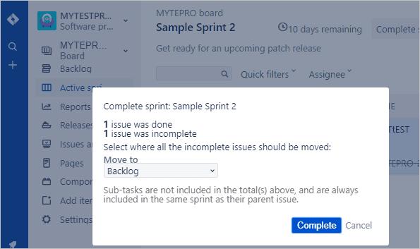 end sprint