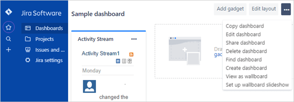 manage dashboard page