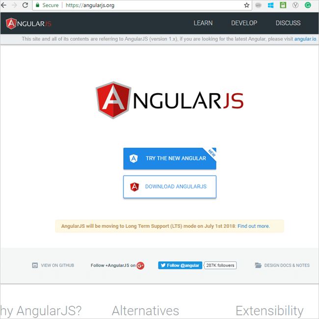 1.5 download the desired version of Angular JS
