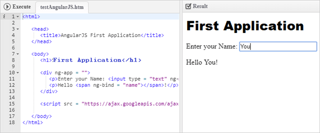 YOUR FIRST APPLICATION