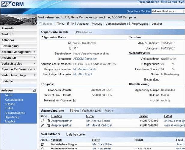SAPCRM Dashboard