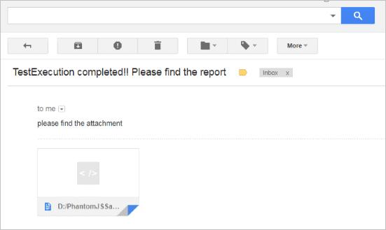 Automated Mail Screenshot