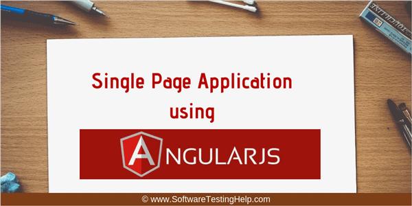 Single page application using AngularJS