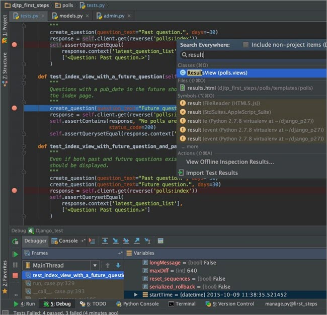 PyCharm screenshots1