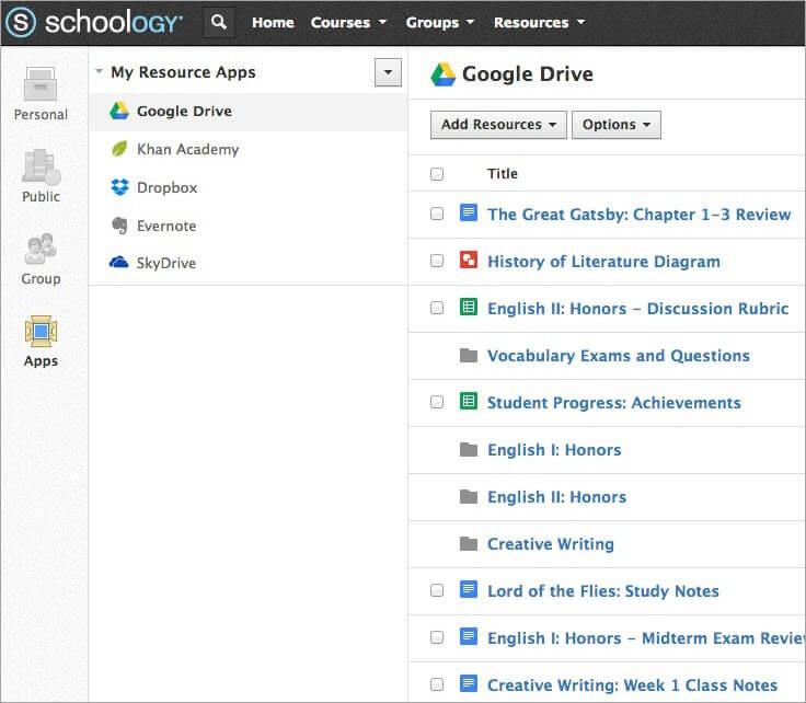 Schoology LMS Dashboard