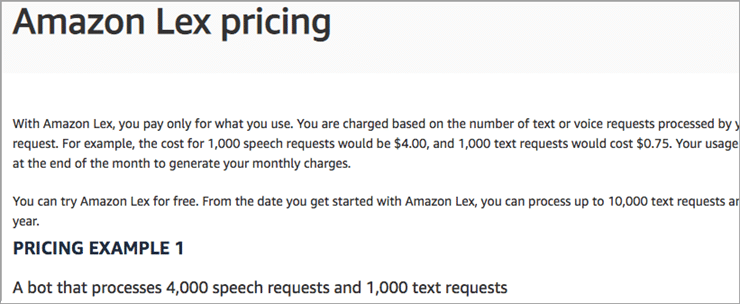 Amazon Lex Price
