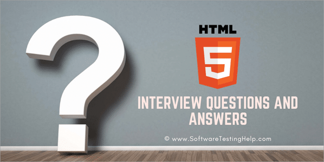 html5 interview questions and answers