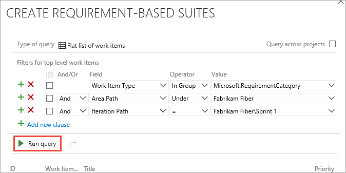 Requirement-based suite