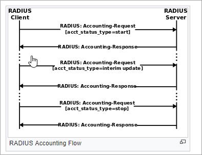 RADIUS accounting flow