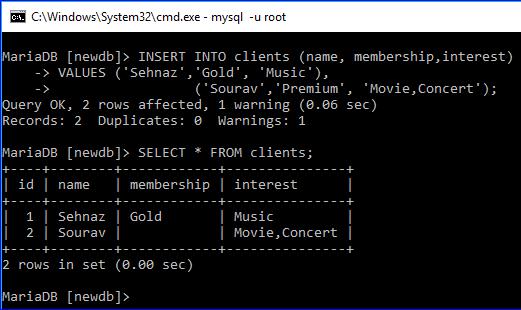 ENUM and SET data types3