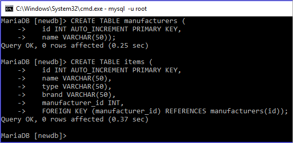 primary key and foreign key