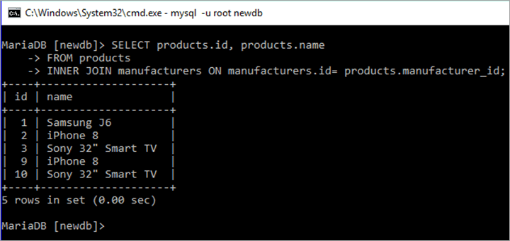 MySQL Inner Join using SELECT Query