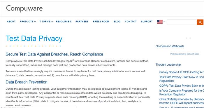 Compuware Test Data Privacy