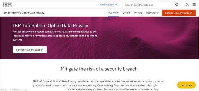 IBM InfoSphere Optim Data Privacy