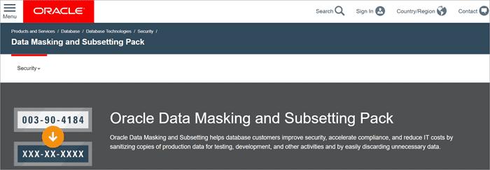 Oracle Data Masking and Subsetting
