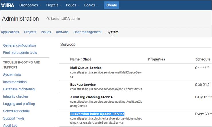 Edit the Subversion Index Update Service