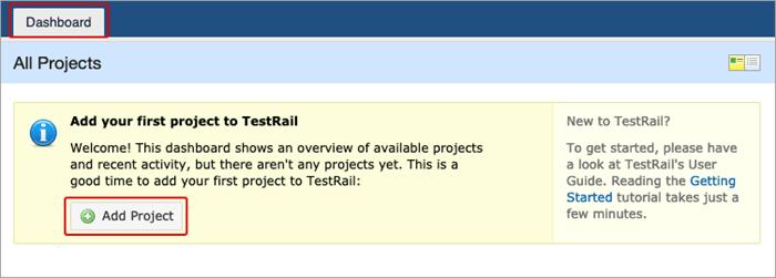 Add project - TestRail