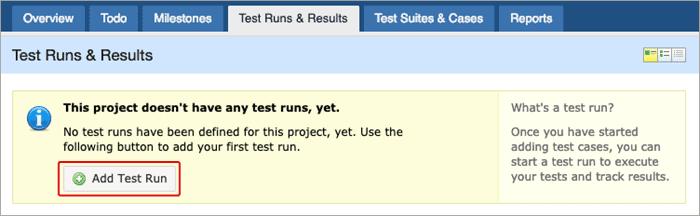 Add test run