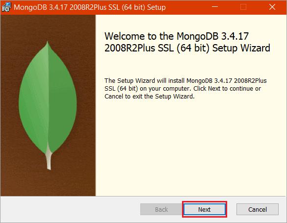 """Click """"Next"""". - 64 bit setup"""