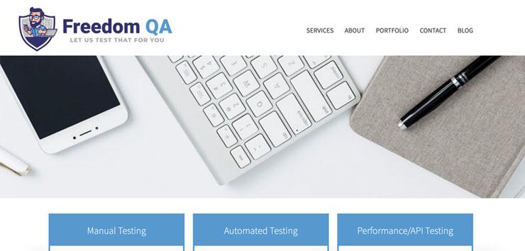 Freedom-QA-homepage