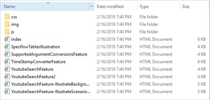 Html FolderStructure